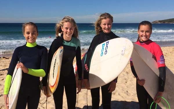Surfing at a high school in Australia